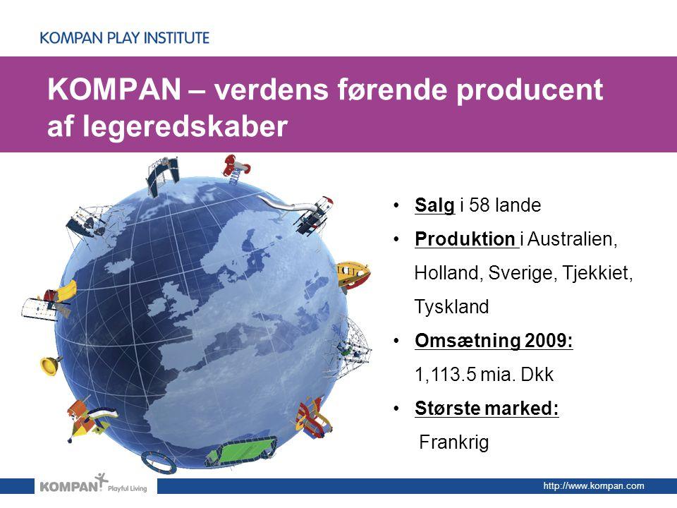 KOMPAN – verdens førende producent af legeredskaber
