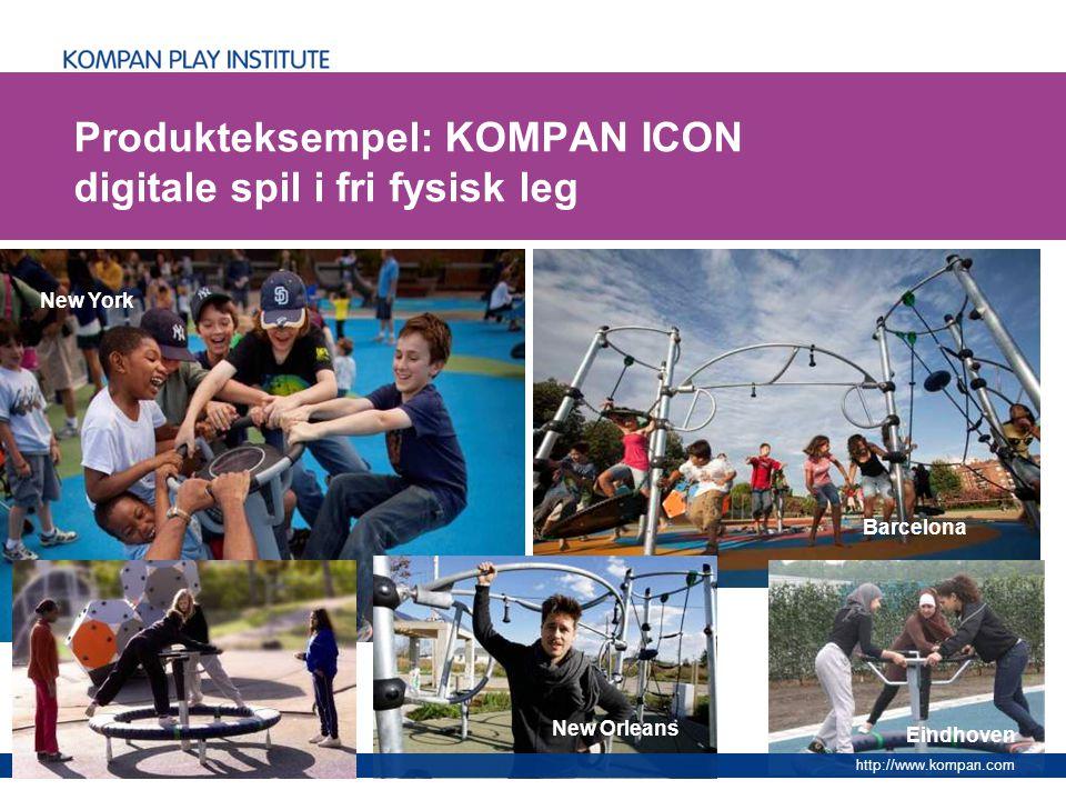 Produkteksempel: KOMPAN ICON digitale spil i fri fysisk leg
