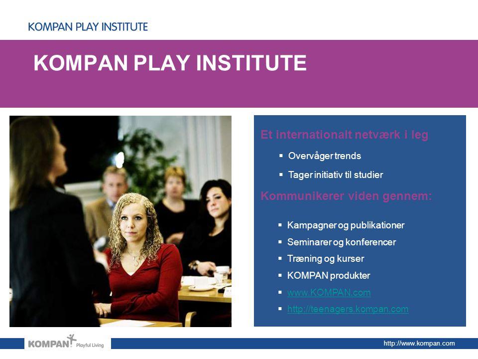 KOMPAN PLAY INSTITUTE Et internationalt netværk i leg