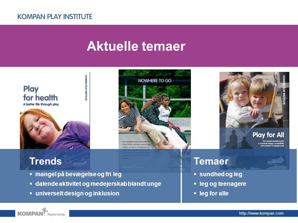 Aktuelle temaer Trends Temaer mangel på bevægelse og fri leg