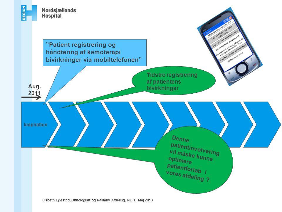 Patient registrering og håndtering af kemoterapi bivirkninger via mobiltelefonen