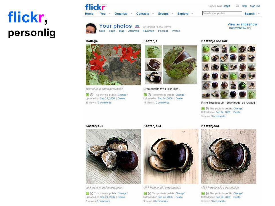 flickr, personlig