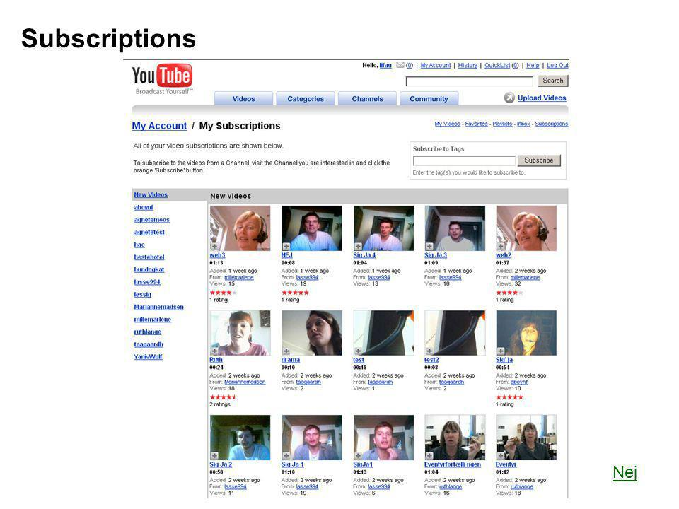Subscriptions Nej