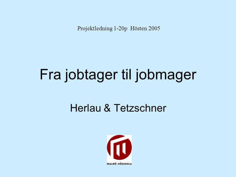 Fra jobtager til jobmager