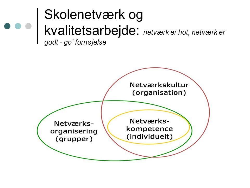 Skolenetværk og kvalitetsarbejde: netværk er hot, netværk er godt - go' fornøjelse