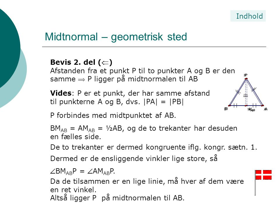 Midtnormal – geometrisk sted
