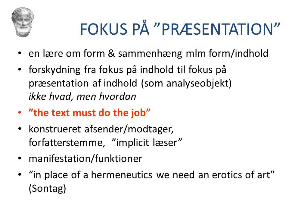 FOKUS PÅ PRÆSENTATION