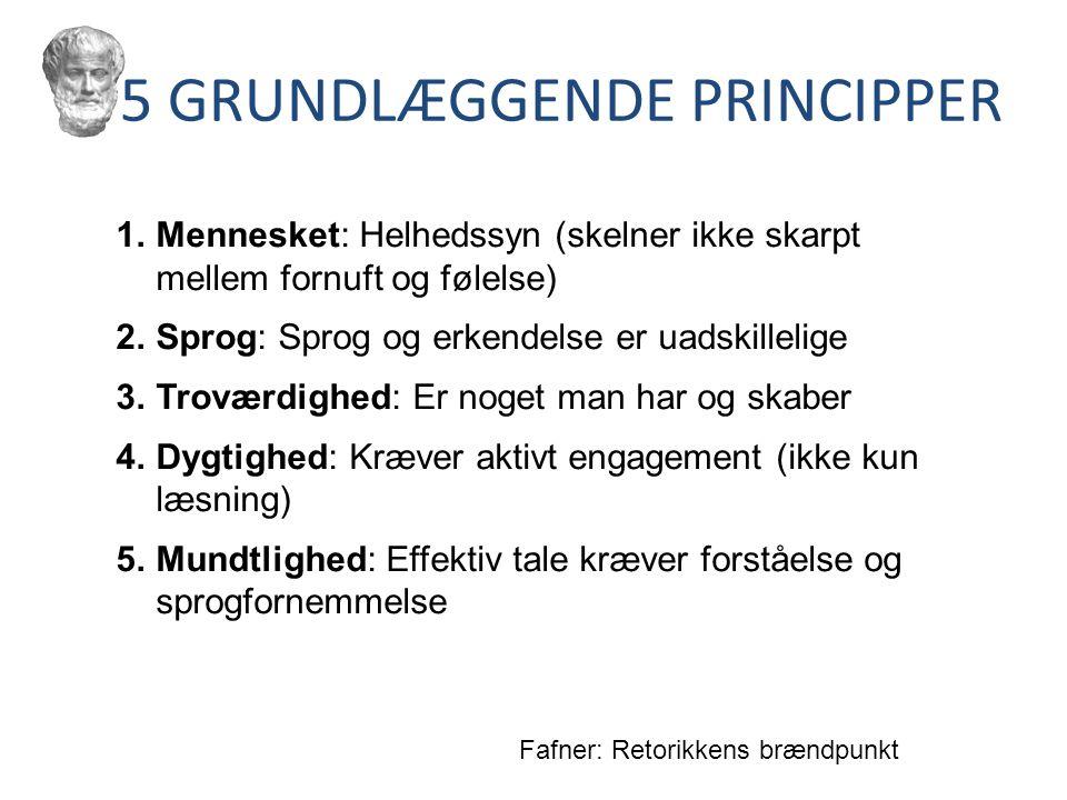 5 GRUNDLÆGGENDE PRINCIPPER