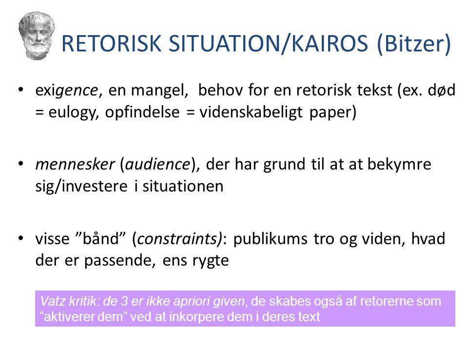RETORISK SITUATION/KAIROS (Bitzer)