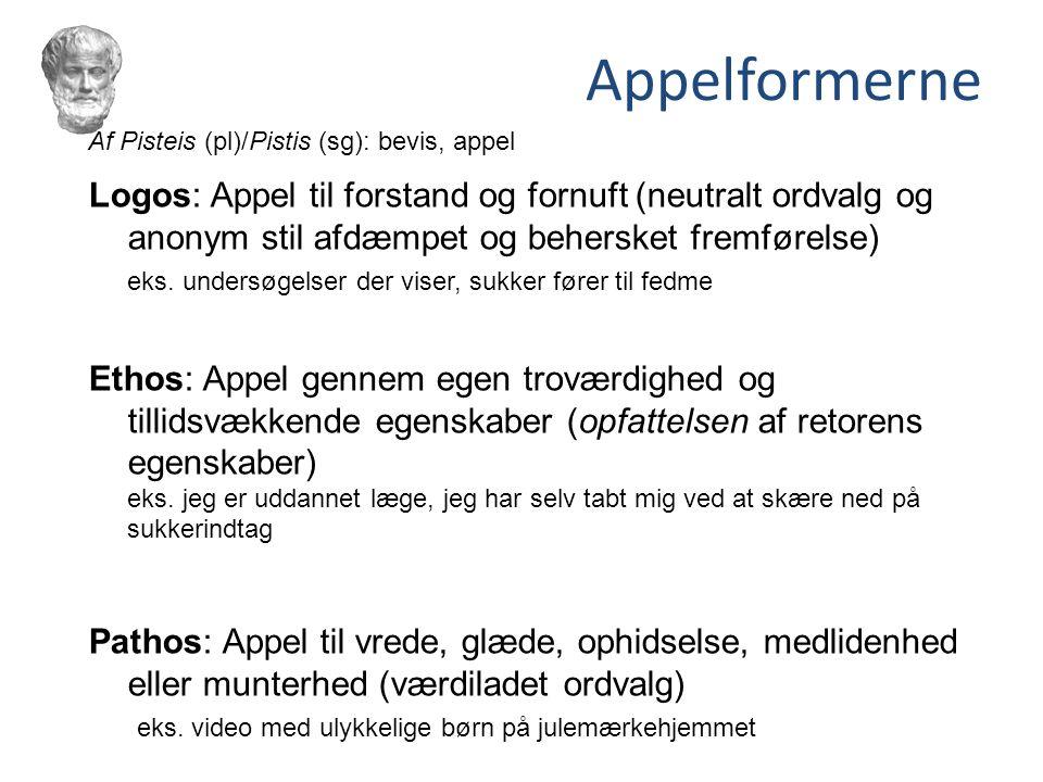 Appelformerne Af Pisteis (pl)/Pistis (sg): bevis, appel.