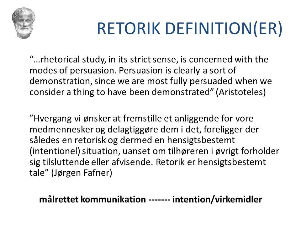 RETORIK DEFINITION(ER)