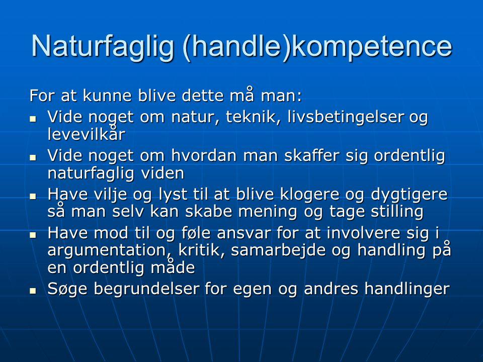 Naturfaglig (handle)kompetence