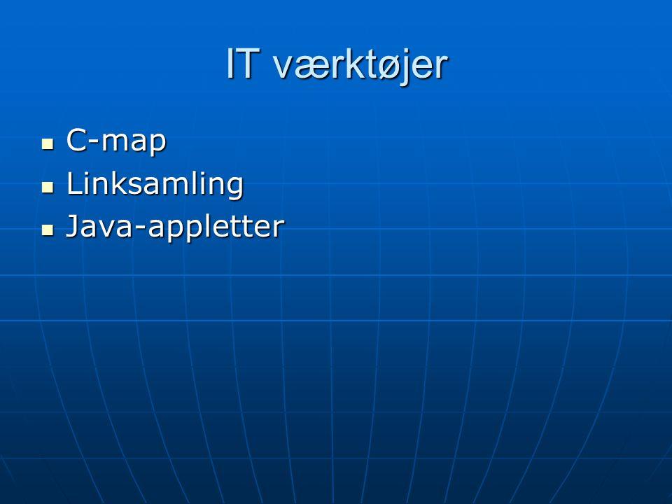 IT værktøjer C-map Linksamling Java-appletter