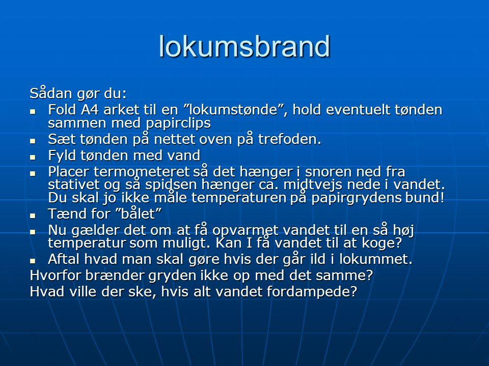 lokumsbrand Sådan gør du: