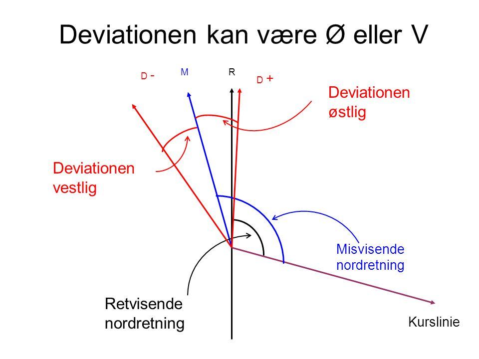 Deviationen kan være Ø eller V