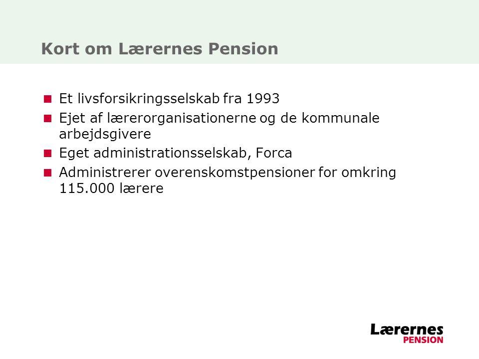 Kort om Lærernes Pension