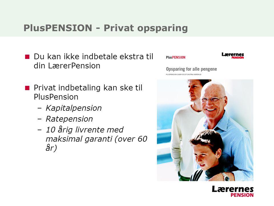 PlusPENSION - Privat opsparing