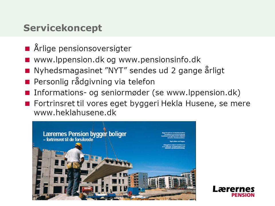 Servicekoncept Årlige pensionsoversigter