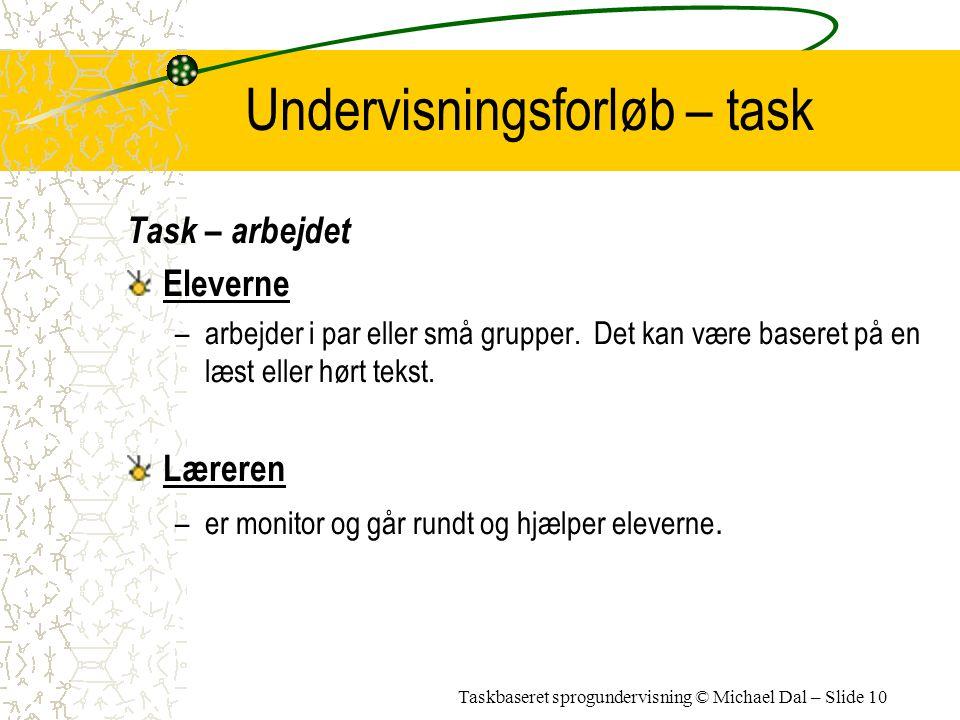 Undervisningsforløb – task