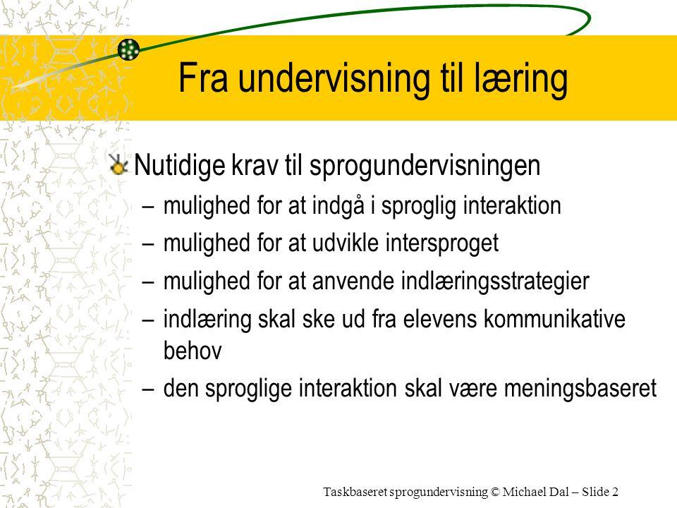 Fra undervisning til læring