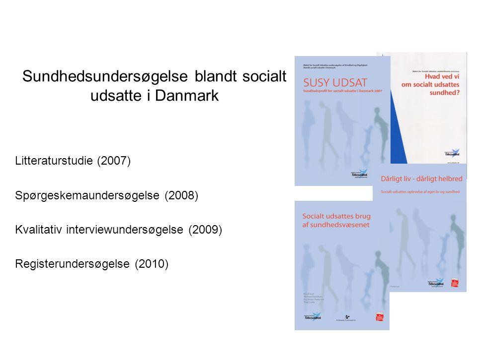 Sundhedsundersøgelse blandt socialt udsatte i Danmark