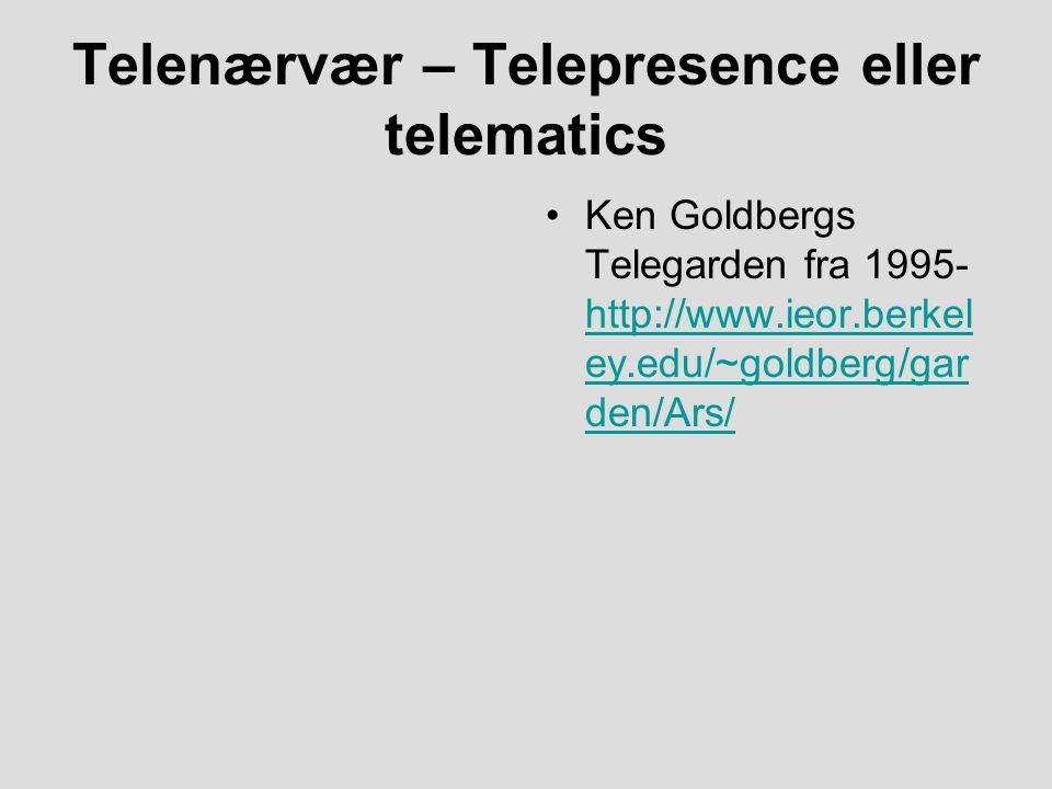 Telenærvær – Telepresence eller telematics