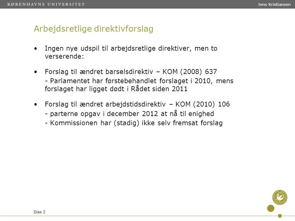 Arbejdsretlige direktivforslag