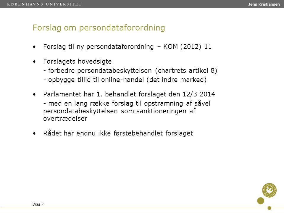 Forslag om persondataforordning