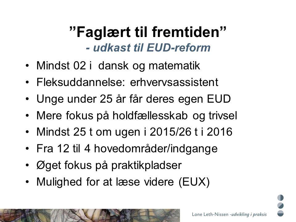 Faglært til fremtiden - udkast til EUD-reform