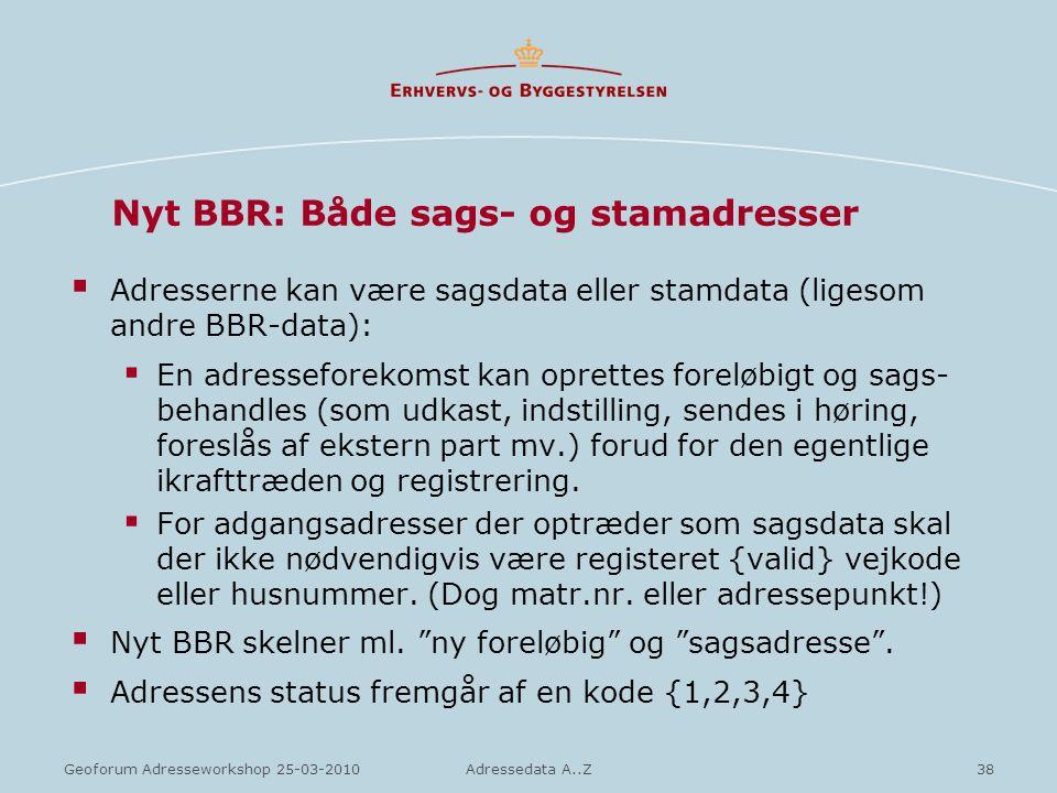 Nyt BBR: Både sags- og stamadresser