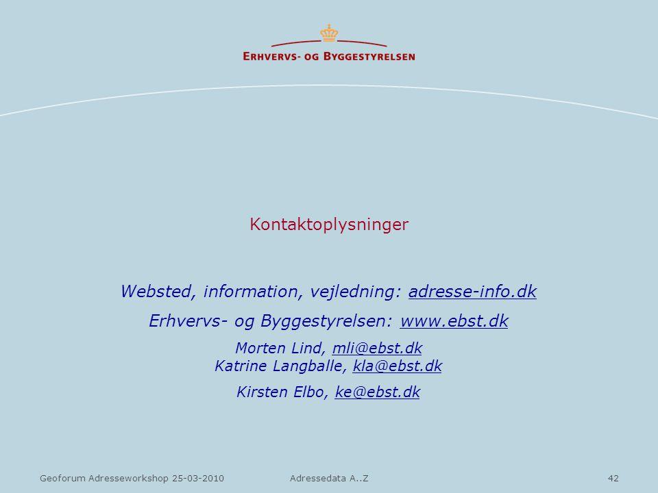 Websted, information, vejledning: adresse-info.dk