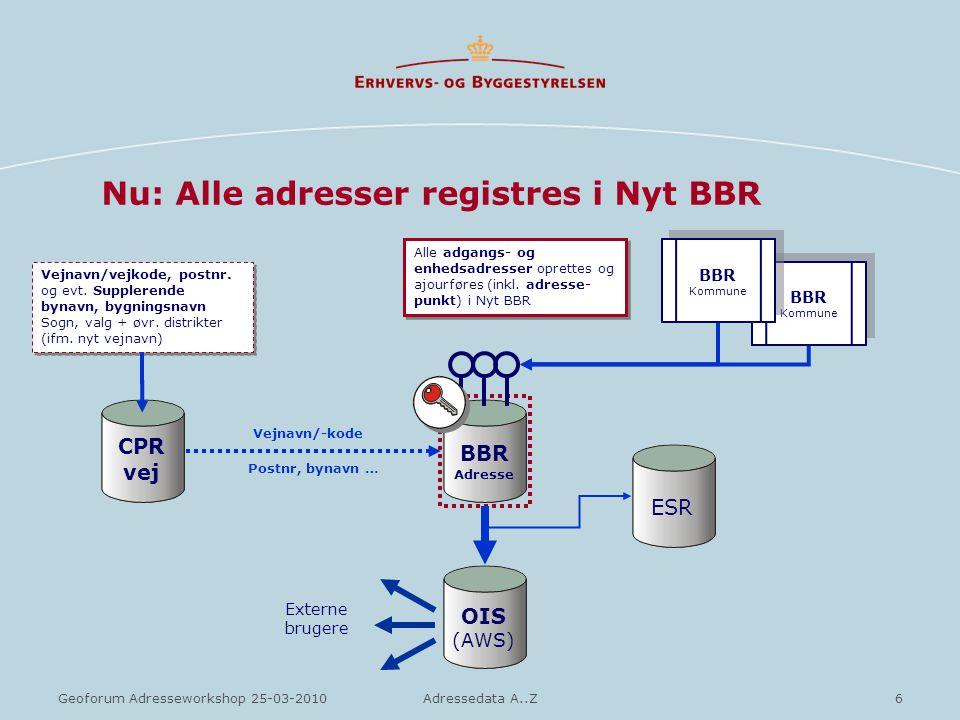 Nu: Alle adresser registres i Nyt BBR
