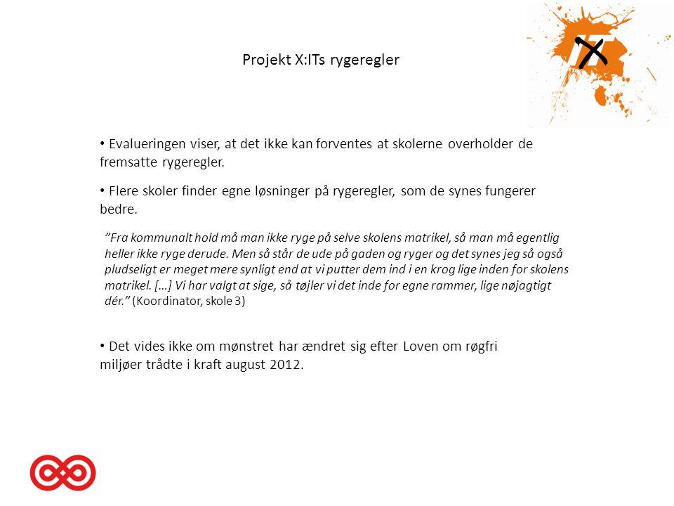 Projekt X:ITs rygeregler