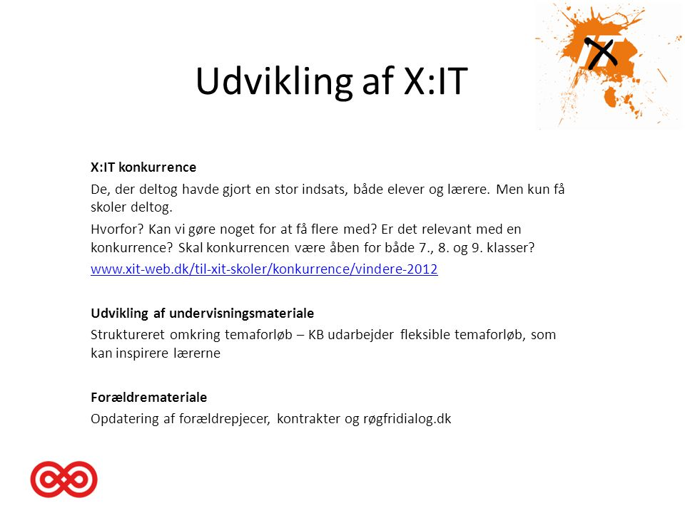 Udvikling af X:IT X:IT konkurrence