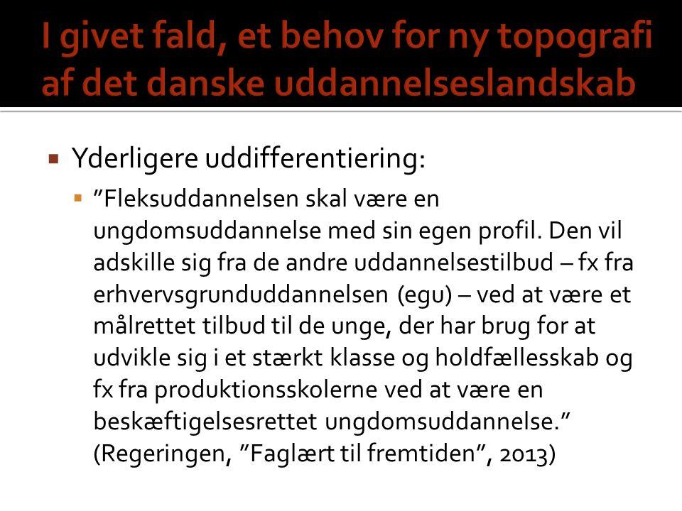 I givet fald, et behov for ny topografi af det danske uddannelseslandskab