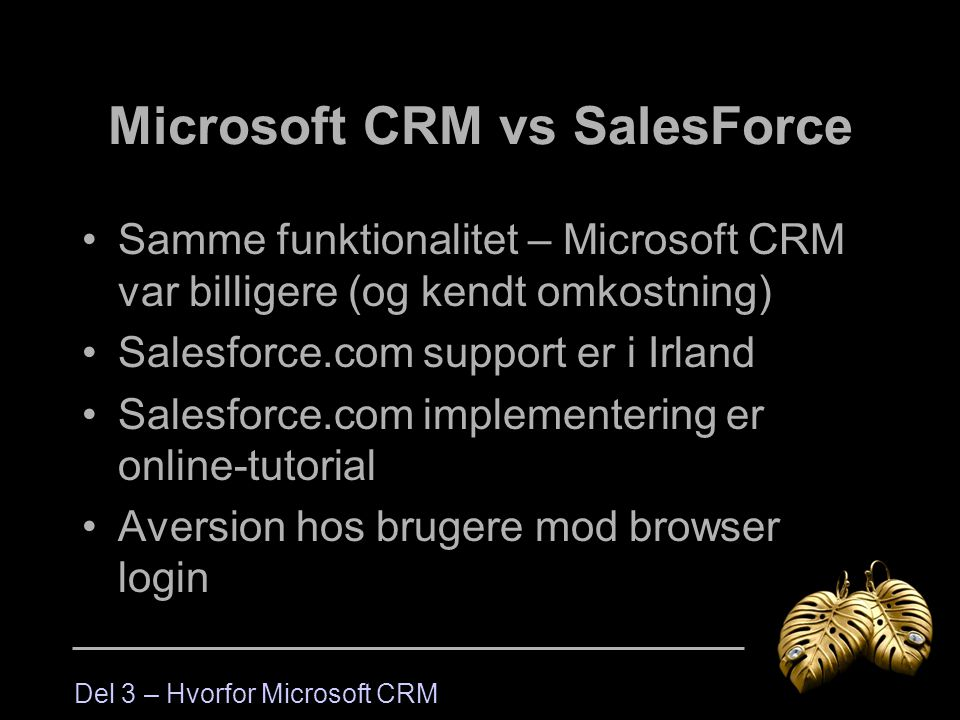 Microsoft CRM vs SalesForce