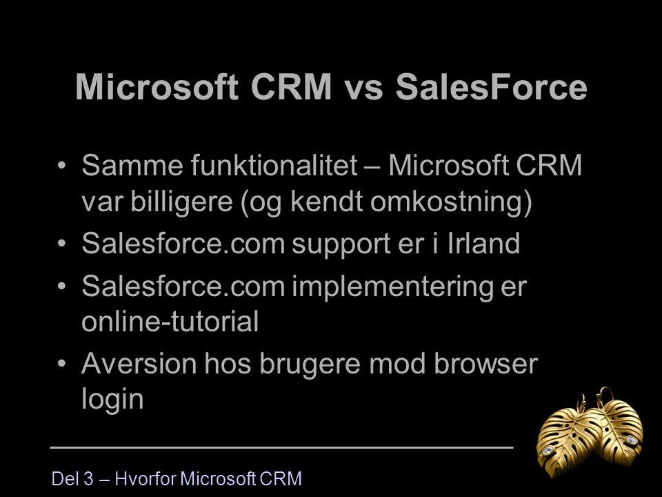 Microsoft CRM vs SalesForce