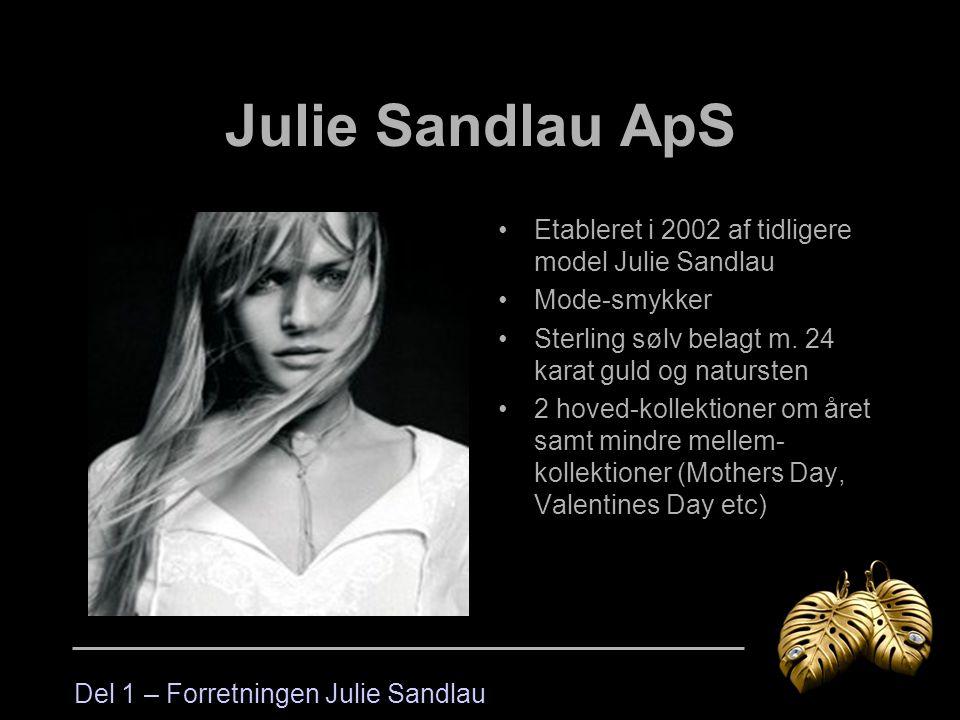 Julie Sandlau ApS Etableret i 2002 af tidligere model Julie Sandlau