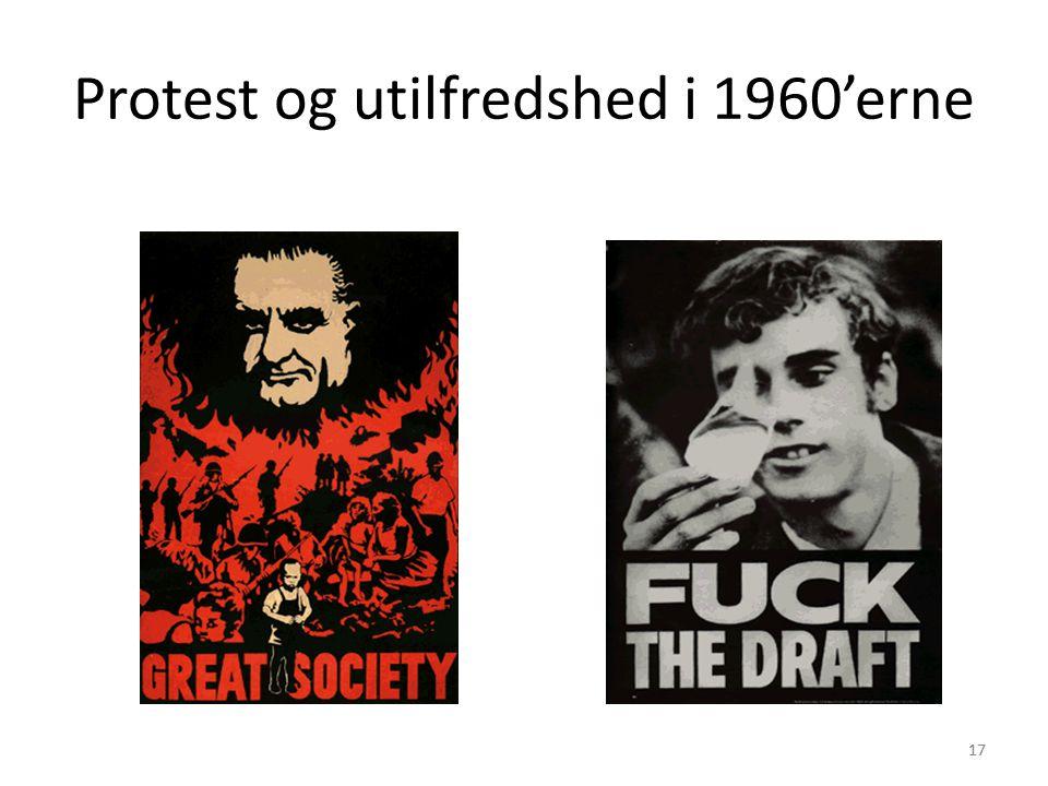 Protest og utilfredshed i 1960'erne