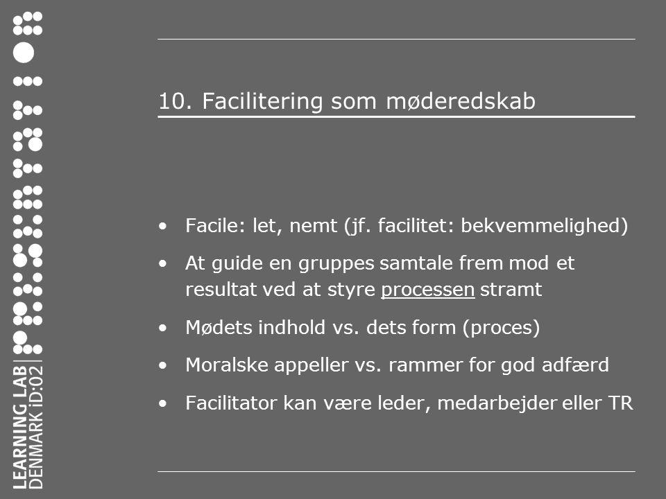 10. Facilitering som møderedskab
