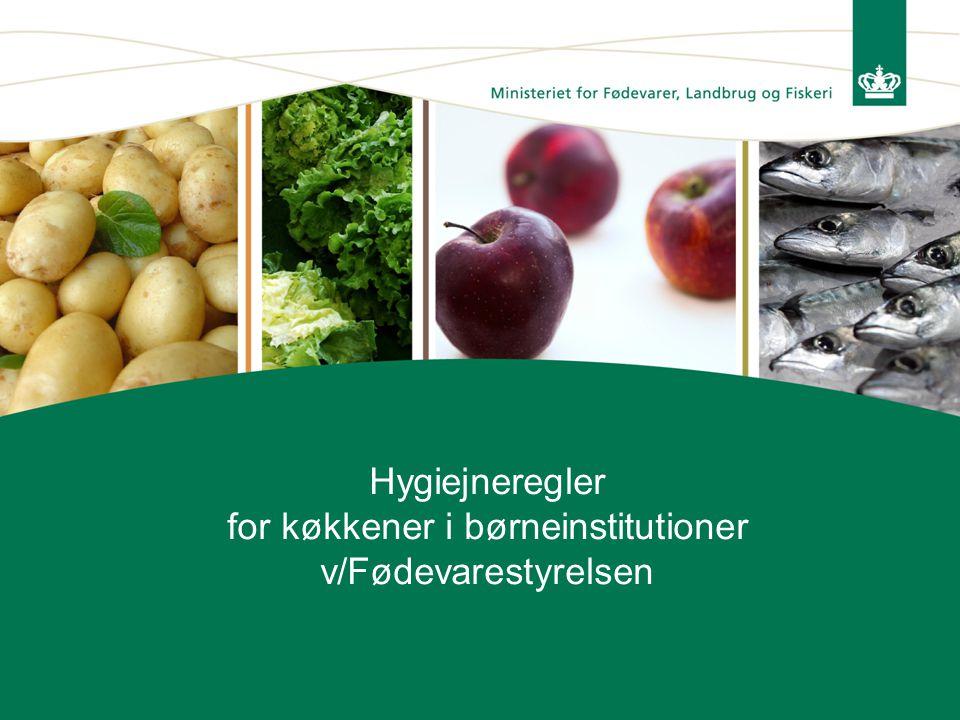 Hygiejneregler for køkkener i børneinstitutioner v/Fødevarestyrelsen