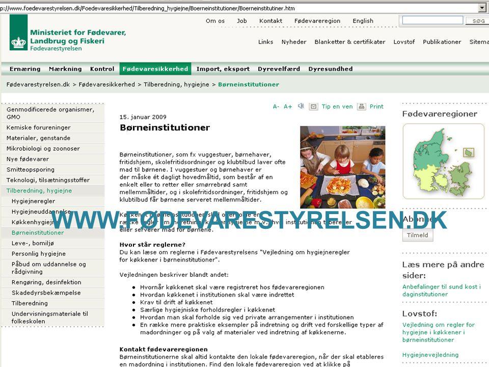 WWW.FØDEVARESTYRELSEN.DK