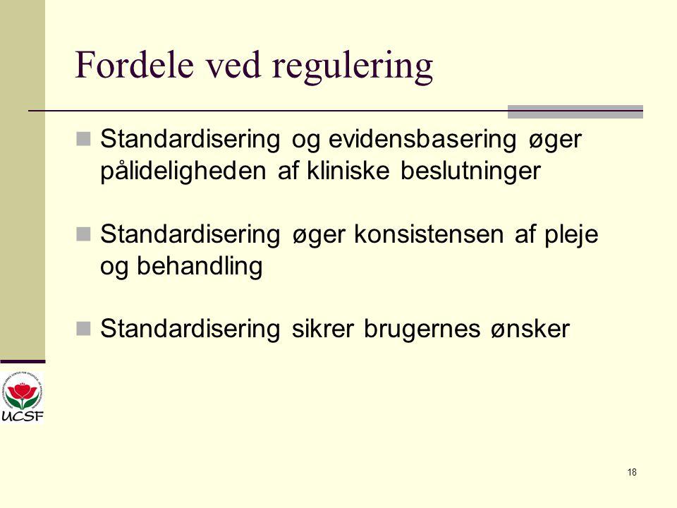 Fordele ved regulering