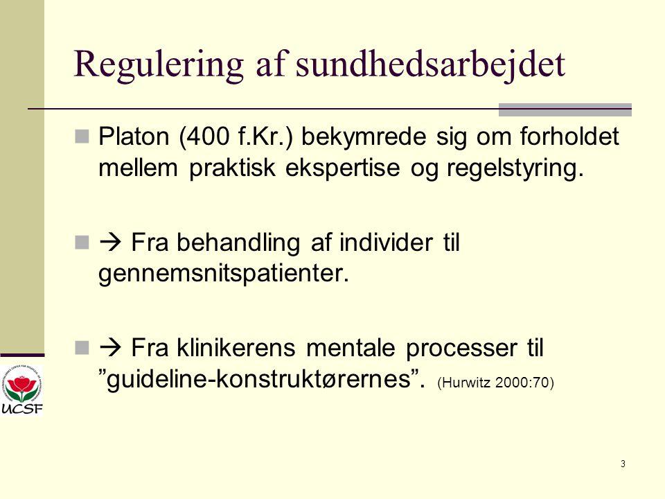 Regulering af sundhedsarbejdet