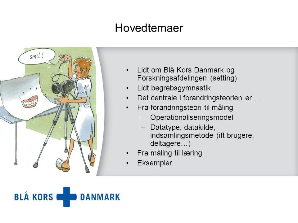 Hovedtemaer Lidt om Blå Kors Danmark og Forskningsafdelingen (setting)