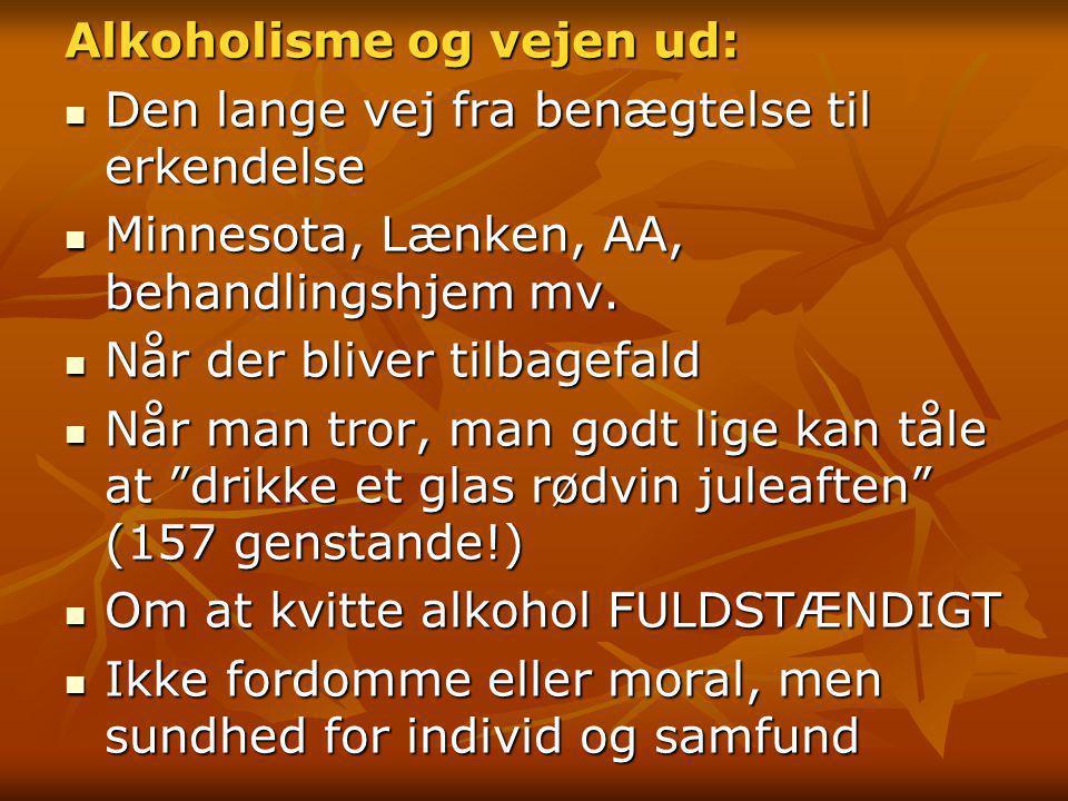 Alkoholisme og vejen ud: