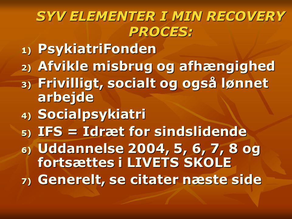SYV ELEMENTER I MIN RECOVERY PROCES: