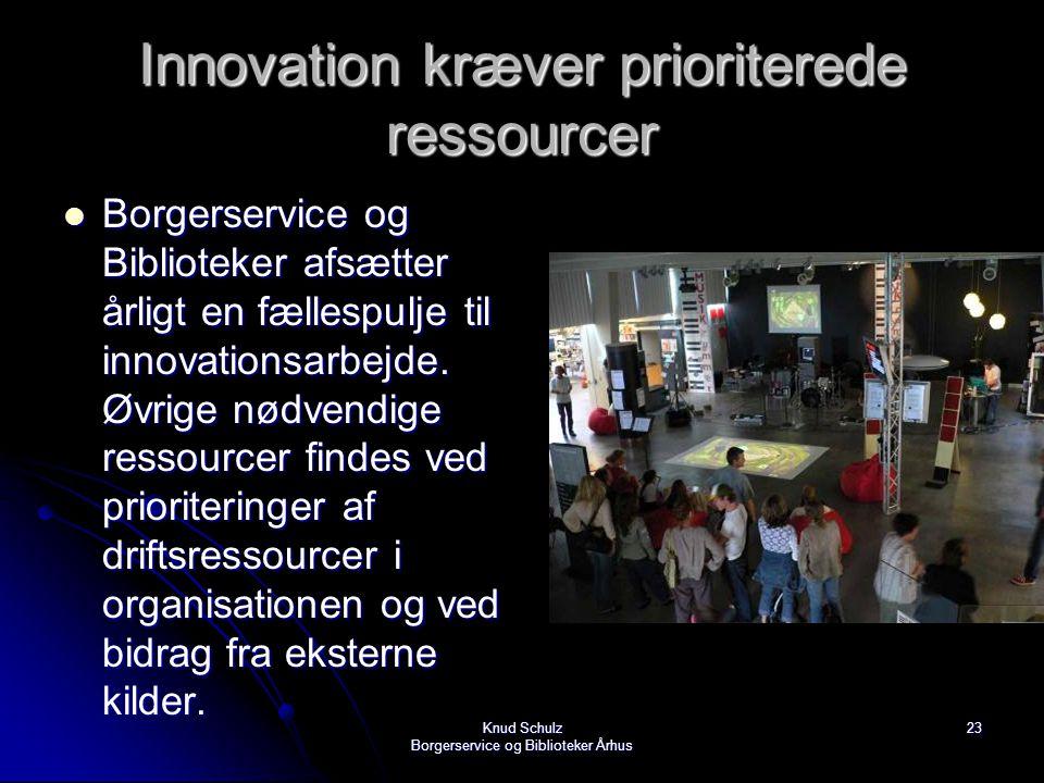 Innovation kræver prioriterede ressourcer