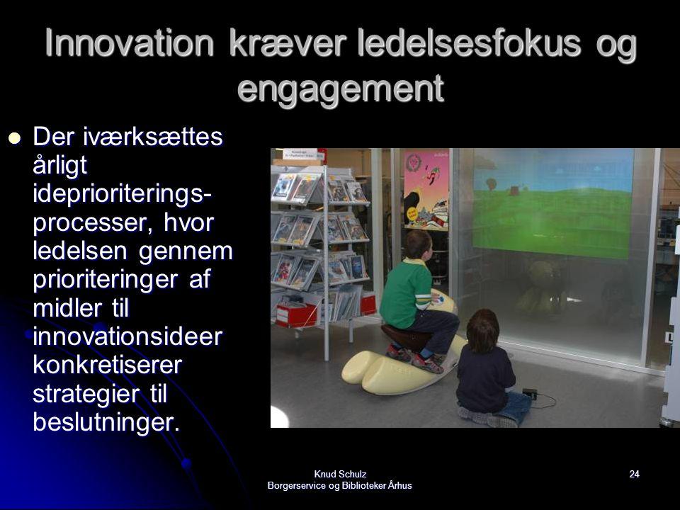 Innovation kræver ledelsesfokus og engagement