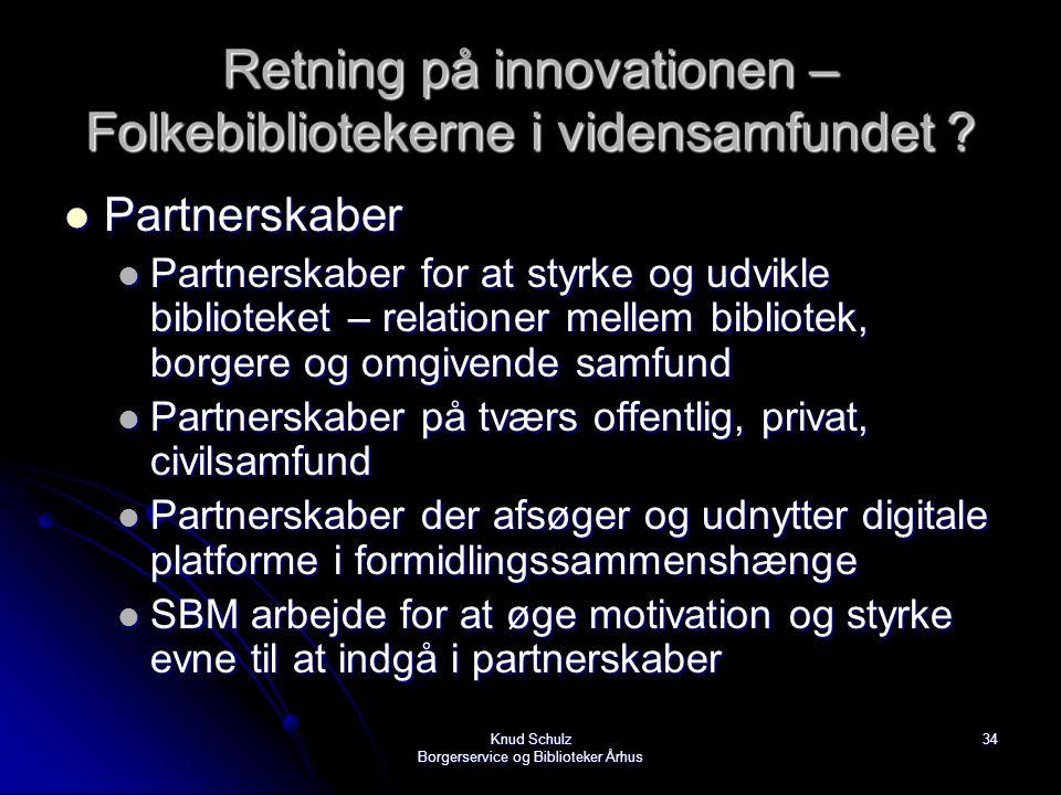 Retning på innovationen – Folkebibliotekerne i vidensamfundet